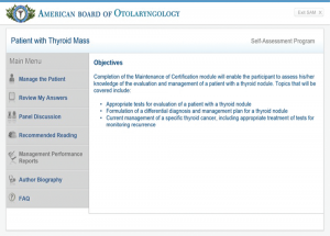 Otolaryngology Residents Gain Access to Maintenance of Certification Modules
