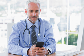 Instant messaging and texting have made communication easier for physicians who are hard of hearing.