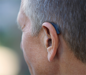 The behind-the-ear ReSound LiNX2 is designed to be discreet.