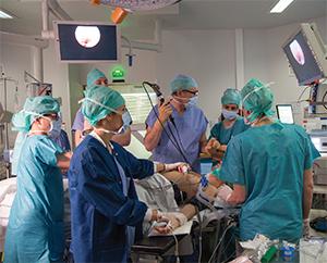 Endoscopic surgery.