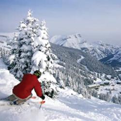 Dr. Pensak on the slopes.