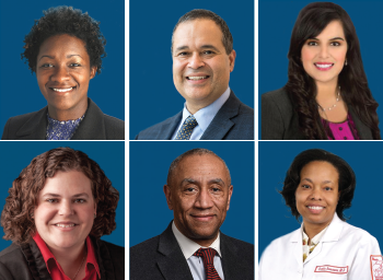 Top Row: Carrie Francis, MD; David Brown, MD; Zainab Farzal, MD. Bottom Row: Cristina Cabrera-Muffly, MD; Duane Taylor, MD; Oneida Arosarena, MD