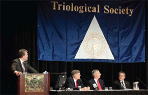 Members of the panel from left to right: Samuel H. Selesnick, MD; D. Bradley Welling, MD, PhD; Clough Shelton, MD; Alan G. Micco, MD.