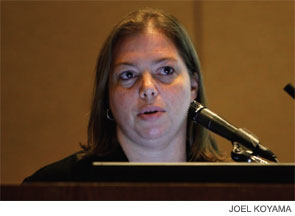 Stacey Ishman, MD, speaking at SLEEP 2011 on June 13.