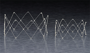 The Propel steroid-eluting stent (left) and the Propel Mini.