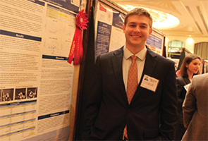 Dane Barrett, MD, won second place for his poster.