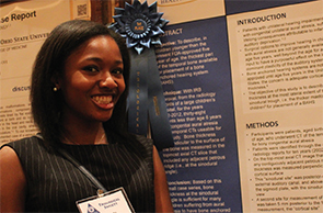 Celsha Ukatu, BS, won first place for her poster.