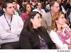 Attendees at the AAO-HNSF 2012 Annual Meeting listen to a session speaker.